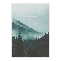 """Karte """"Be brave"""""""