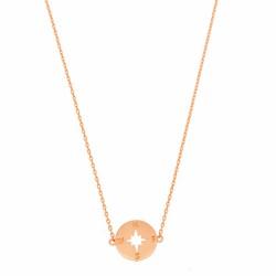 "Halskette ""Kompass"" Rosé Gold"