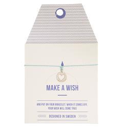 """Armband """"Make a wish"""" mit Herzchen"""