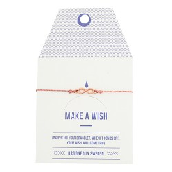 "Armband ""Make a wish"" Infinity Rosé Gold"