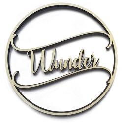 """3D Schrift """"Wunder"""""""