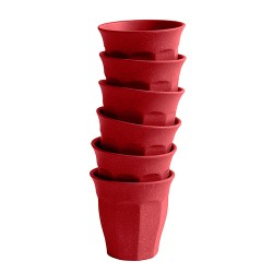Bamboo Becher Deep Red