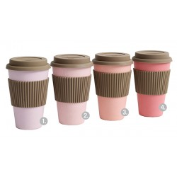 Bamboo To-go Becher Rosa Mix