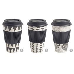 Bamboo To-go Becher Black & White