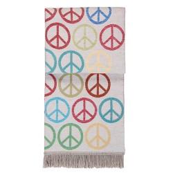 Kuscheldecke PEACE Bunt