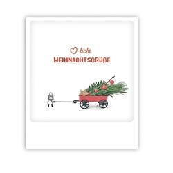 """Pickmotion Karte """"Herzliche Weihnachtsgrüße Mädchen"""""""