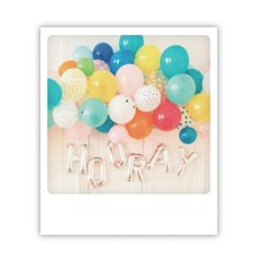 "Pickmotion Karte ""Hooray Ballons"""
