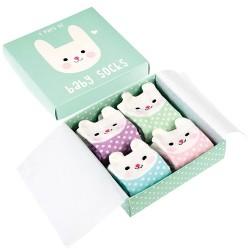Baby Socken Set mit Hasen