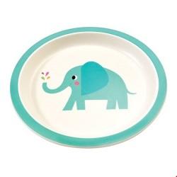 Elvis der Elefant Bamboo Teller