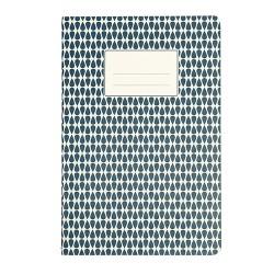 A5 Heft Abstract Blau
