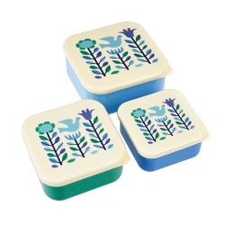 Lunchboxen Set Blue Dove