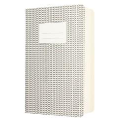 A5 Heft Abstract Grau