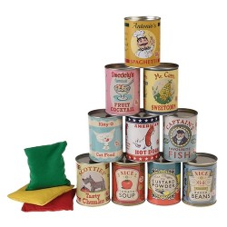 "Spiel Dosenwerfen ""Tin Can Alley Game"""