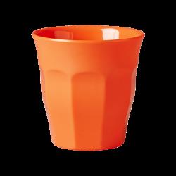 Melamin Becher Unifarben Neon Orange