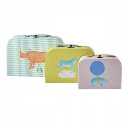 Kinderkoffer Set ANIMALS