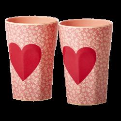 Melamin Latte Becher Set HEARTS