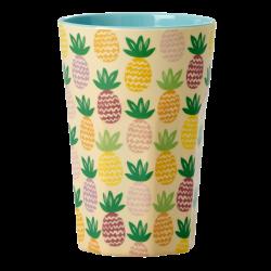 Melamin Latte Becher Ananas