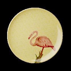 Melamin Teller Nostalgia Flamingo