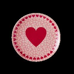 Melamin Dessert Teller HEART