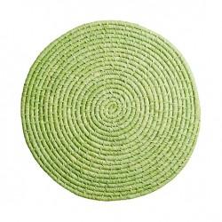 Großer Raffia Untersetzer Grün