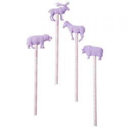 Bleistift Set ANIMALS Flieder