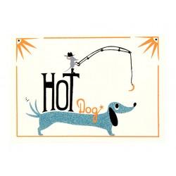"""Bild """"Hot Dog"""" Blau"""