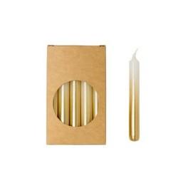 20er Kerzen Set 10cm Gradient Gold