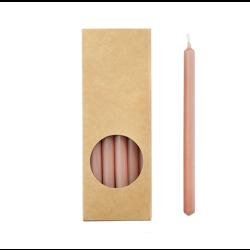 20er Kerzen Set 17,5cm Altrosa