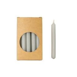 20er Kerzen Set 10cm Grau