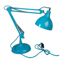 große Schreibtischlampe Aqua