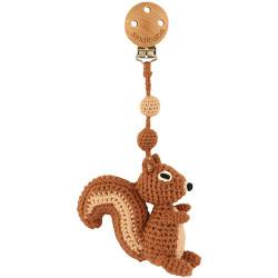 Häkel Eichhörnchen Kinderwagen Clip