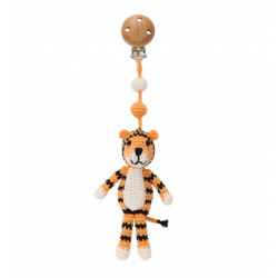 Häkel Tiger Kinderwagen Clip