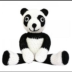 Häkel Panda Rasselkuscheltier