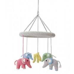Häkel Elefanten Mobile