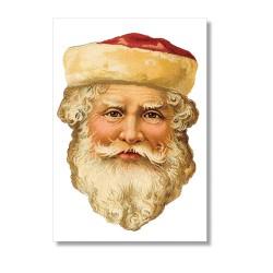 Vintage Karte Weihnachtsmann