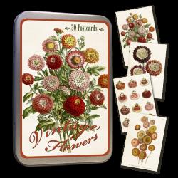 Vintage Karten Set Vintage Flowers