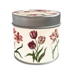 """Duftkerze """"Sommerwiese"""" mit Tulpen"""