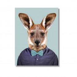 Karte mit Tierportrait Kanguru