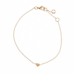"""Armkettchen """"Mini Herz"""" Rosé Gold"""