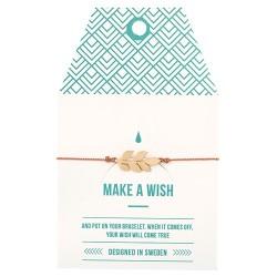 "Armband ""Make a wish"" Laurel Leaf"