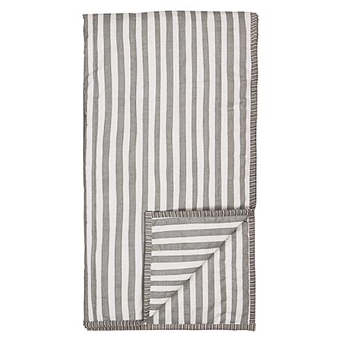 organic plaid mit grauen streifen shabby. Black Bedroom Furniture Sets. Home Design Ideas