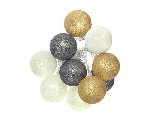 lichterkette cotton ball. Black Bedroom Furniture Sets. Home Design Ideas