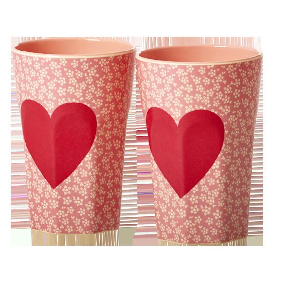 melamin latte becher set hearts shabby. Black Bedroom Furniture Sets. Home Design Ideas