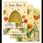 Mini Notebook 3er Set Honey Bees