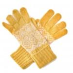 Angora-Woll Handschuhe Nordic Gelb