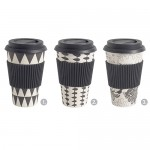 Bamboo To-go Becher Black & White
