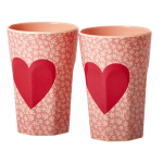 Melamin Latte Becher Set HEARTS