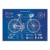 "Poster ""Fahrrad Blueprint"""