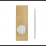 20er Kerzen Set 17,5cm Weiß