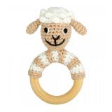 Rassel mit Holzring Schaf
